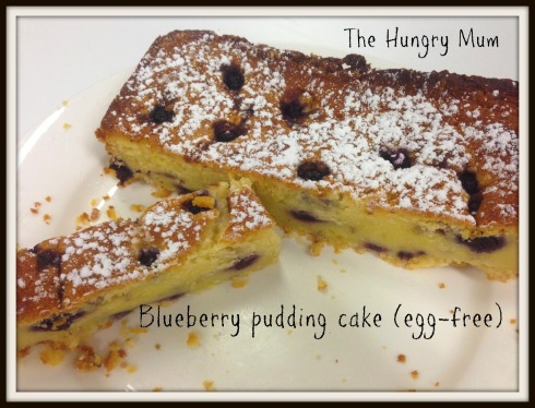 Blueberry pudding cake (no egg)