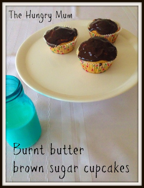 Burnt butter brown sugar cupcakes. The Hungry Mum.