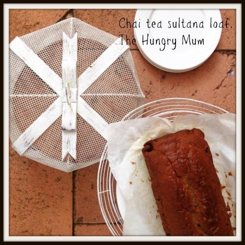 Chai tea sultana loaf.