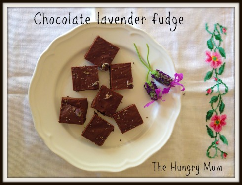 Chocolate lavender fudge - The Hungry Mum