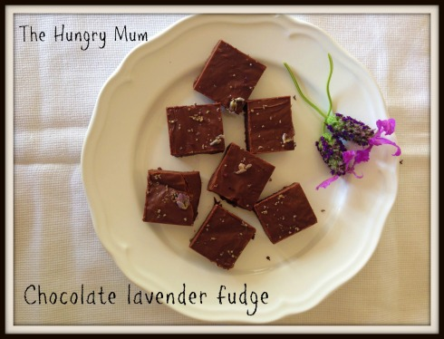 Chocolate lavender fudge