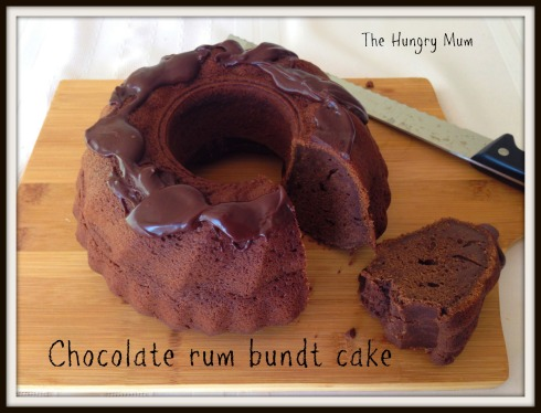 Chocolate rum bundt cake. The Hungry Mum.