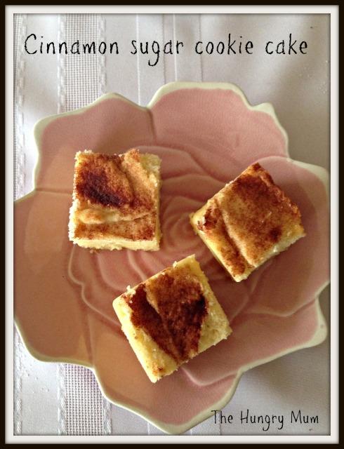 Cinnamon  sugar  cookie  cake - The Hungry Mum
