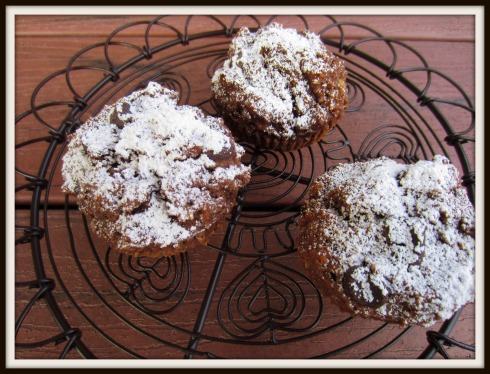 double coconut chocolate muffins