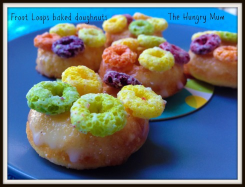 Froot Loops baked doughnut recipe