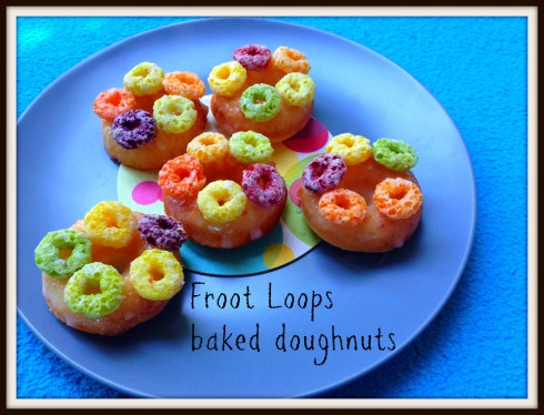 Froot Loops baked doughnuts. The Hungry Mum