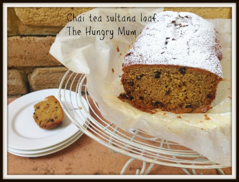 IChai tea sultana loaf. The Hungry Mum