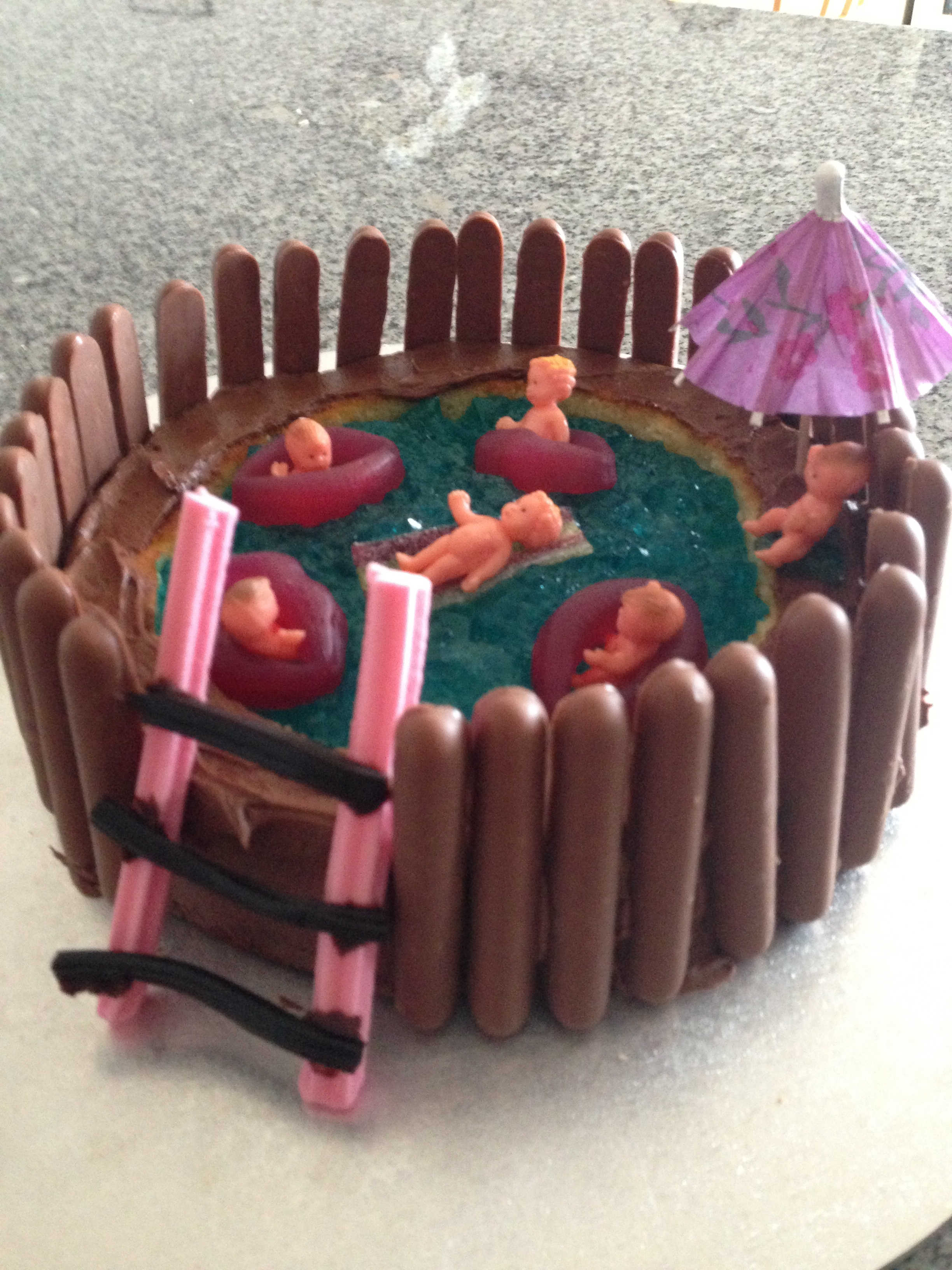 Australian Womens Weekly swimming pool cake the hungry mum