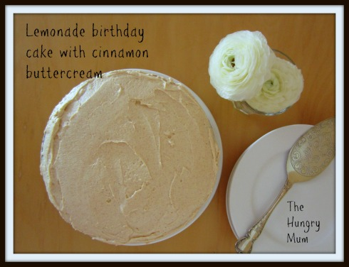 Lemonade birthday cake and cinnamon buttercream