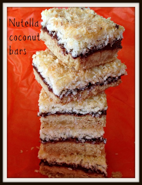 Nutella coconut bars  The Hungry Mum