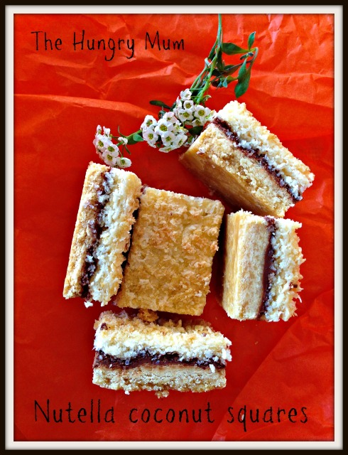 Nutella coconut squares - the hungry mum