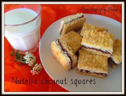 Nutella coconut squares