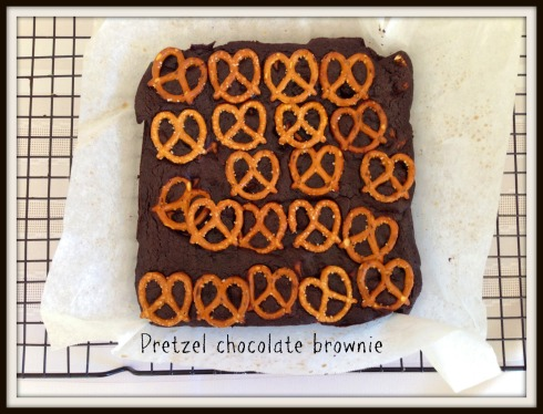 Pretzel chocolate brownie