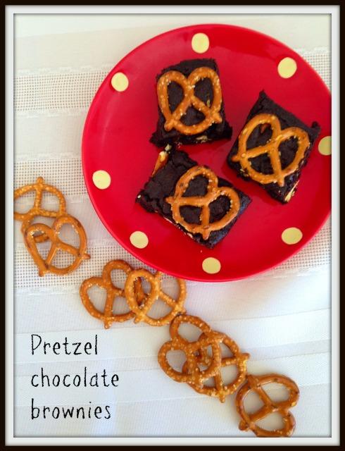 Pretzel chocolate brownies