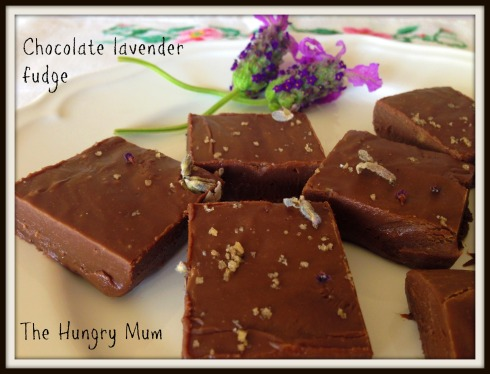 The Hungry Mum Chocolate lavender fudge
