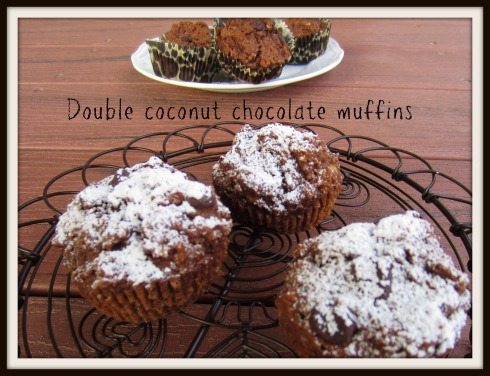 The Hungry Mum. Double coconut chocolate muffins