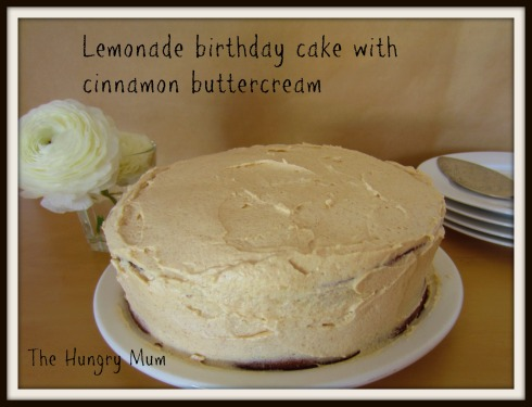 The Hungry Mum  Lemonade birthday cake with cinnamon buttercream