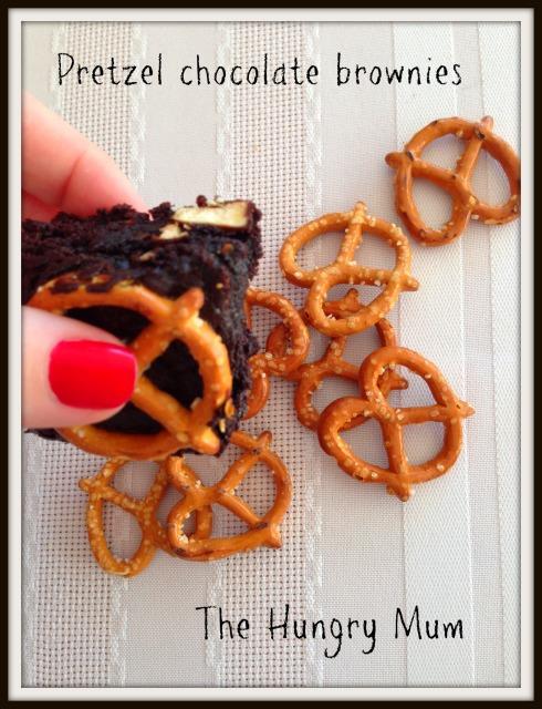 The Hungry Mum  Pretzel chocolate brownie