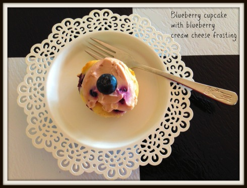Blueberry cupcake  with cream cheese frosting