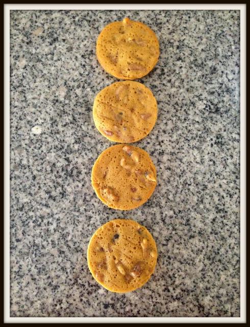Cheat's salted caramel pecan pie cookie