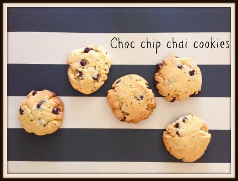 Choc chip  chai  cookies recipe