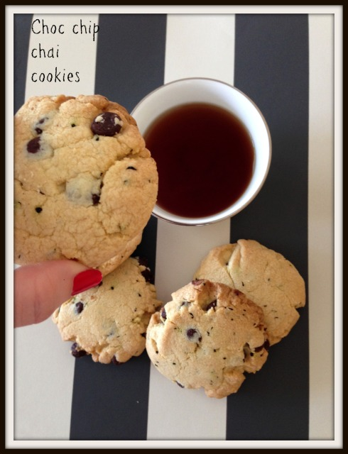 Choc chip  chai  cookies