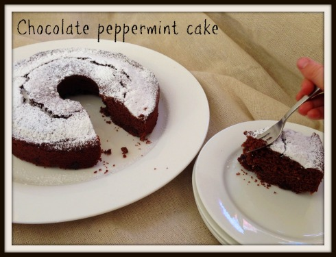 chocolate peppermint cake - the hungry mum