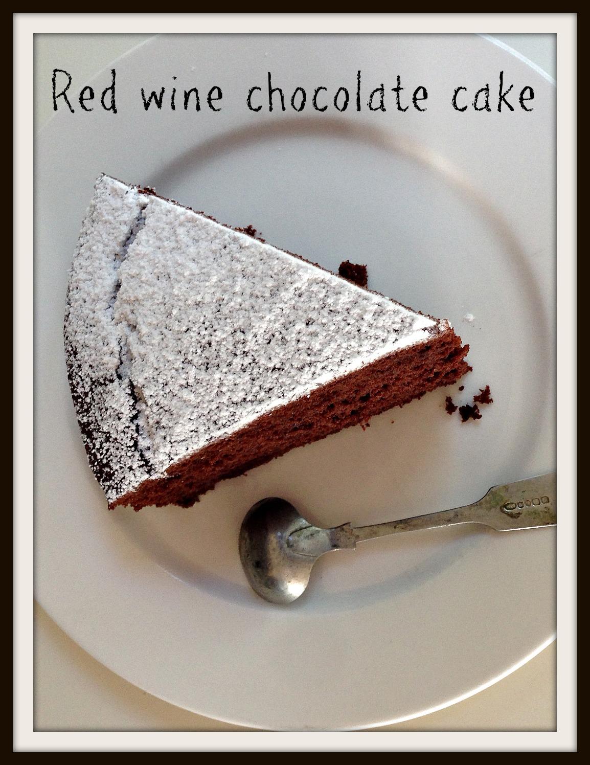 Red wine chocolate cake - The Hungry Mum