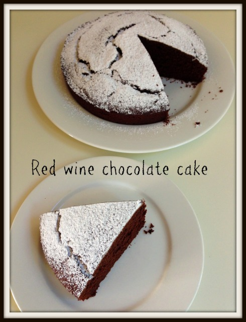 Red wine chocolate cake.