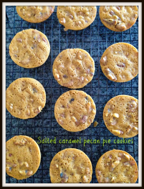 Salted caramel pecan pie cookies  The Hungry Mum