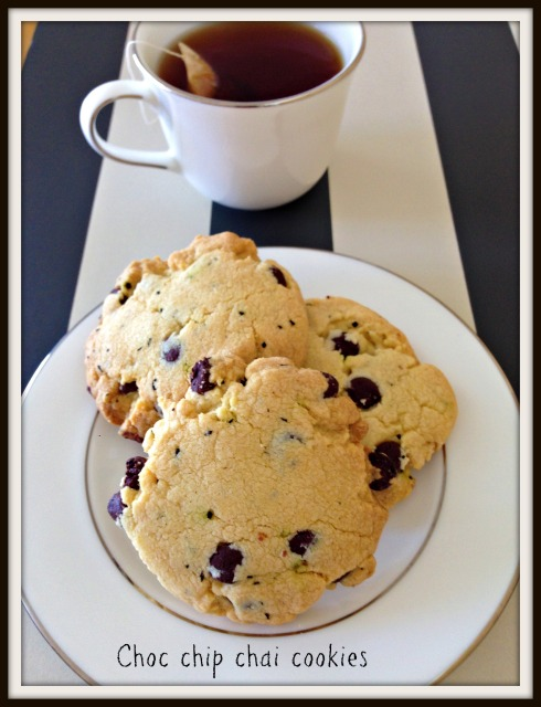 The Hungry Mum  Choc chip chai cookies