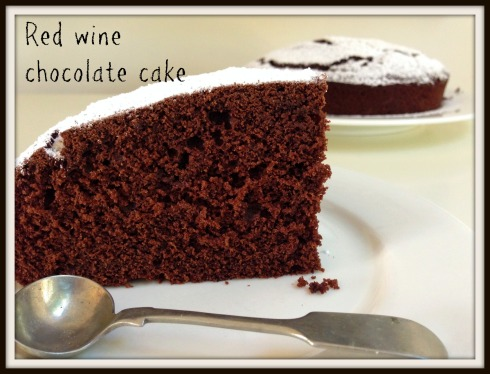 The Hungry Mum - Red wine chocolate cake