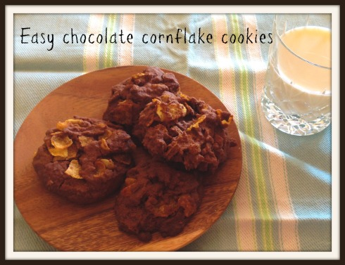 Easy chocolate cornflake cookies - The HUngry Mum