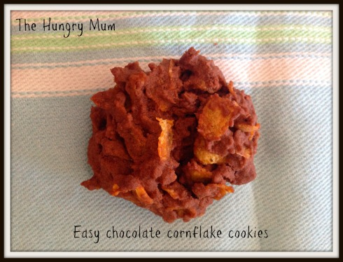 Easy chocolate cornflake cookies