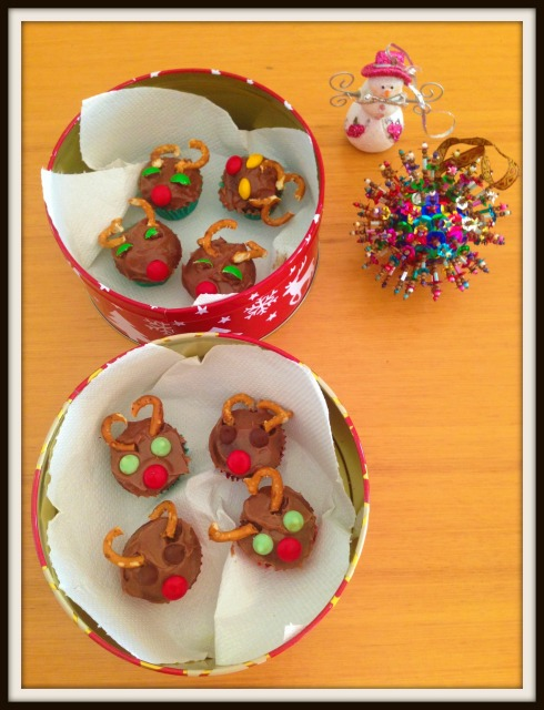 reindeer cupcakes - the hungry mum