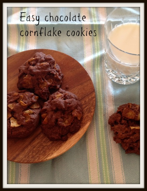 The Hungry Mum Easy chocolate cornflake cookies