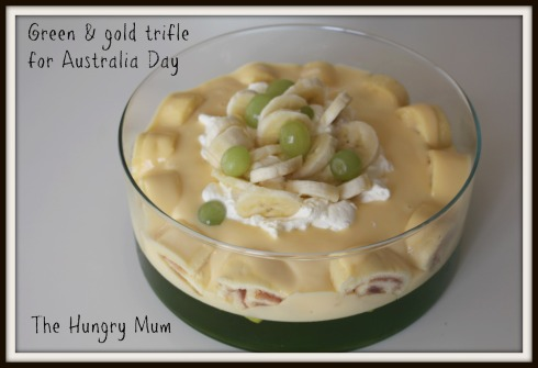 Green & gold trifle for Australia Day