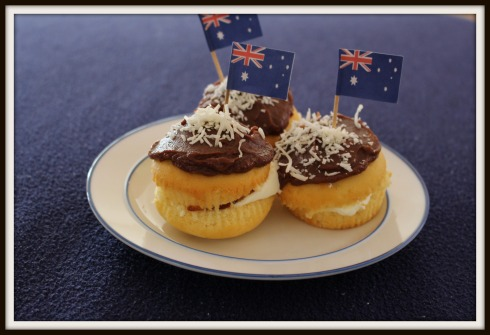 inside lamington cupcakes - The Hungry Mum