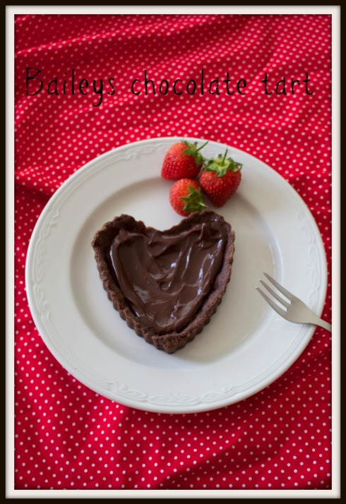 Baileys chocolate heart tart