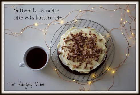 Buttermilk chocolate cake with buttercream