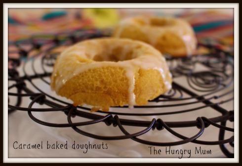 Caramel baked doughnuts
