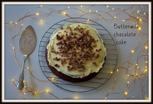The Hungry Mum. Buttermilk chocolate cake with buttercream