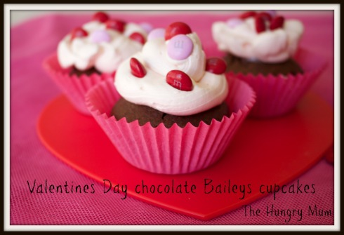 Valentines Day chocolate Baileys cupcakes  The Hungry Mum