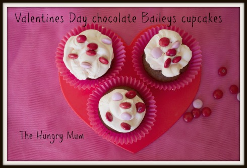 Valentines Day chocolate Baileys cupcakes