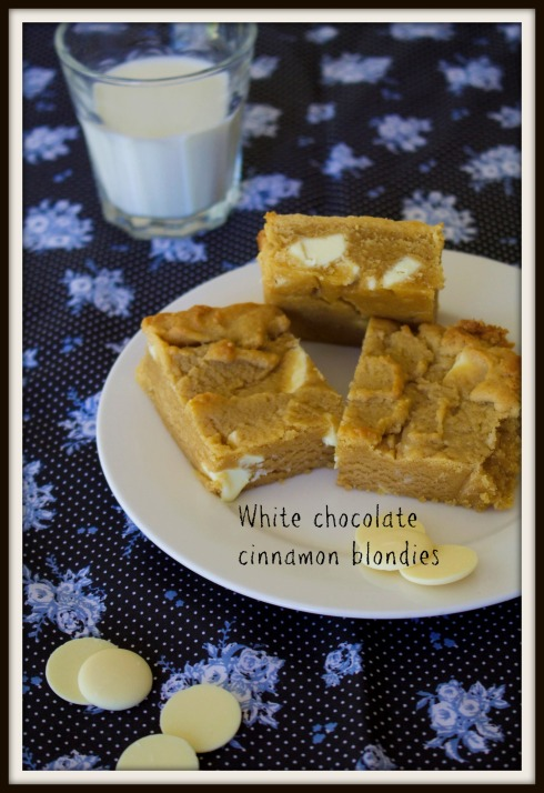 White chocolate  cinnamon blondies