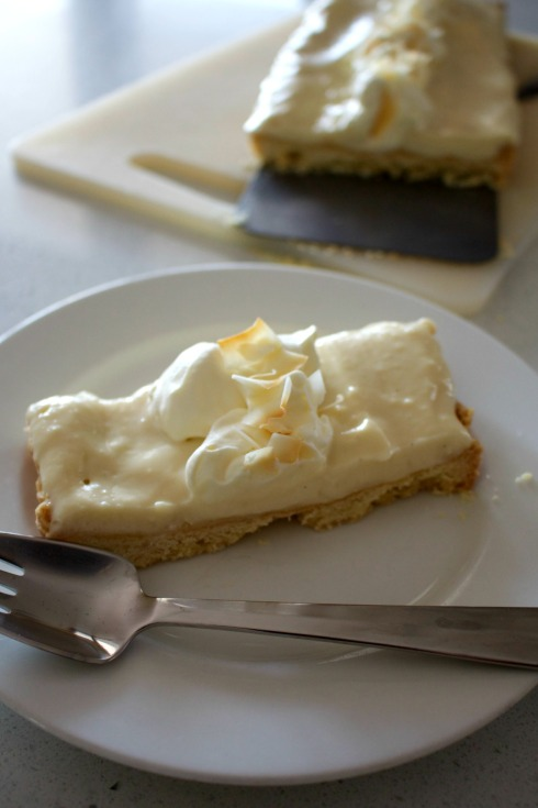 Coconut cream tart with easy crust.