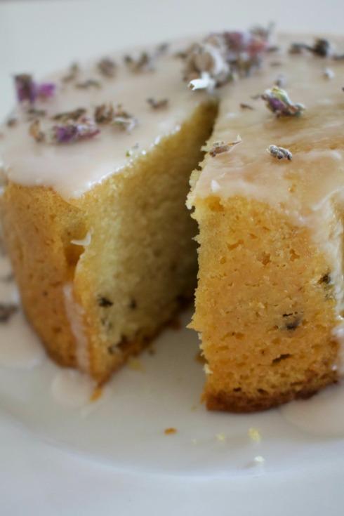 lavender vegan cake