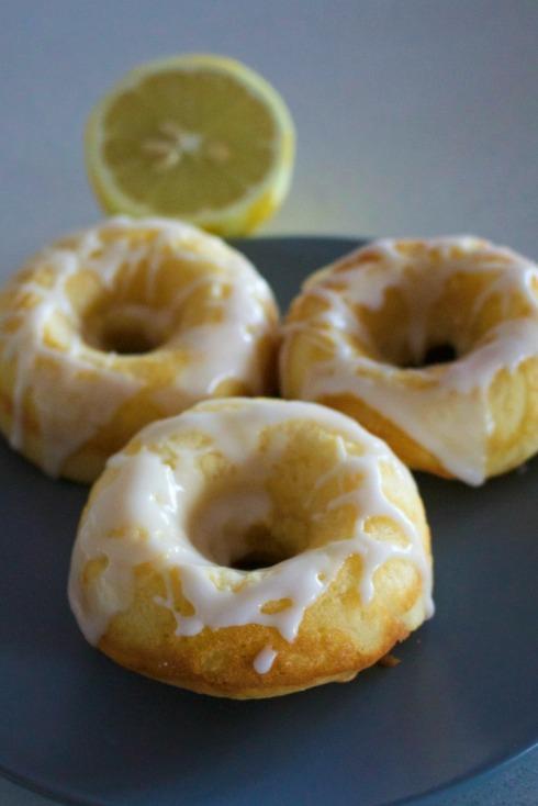 lemon baked doughnuts.