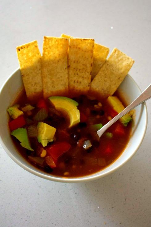 Vegan Mexican black bean soup