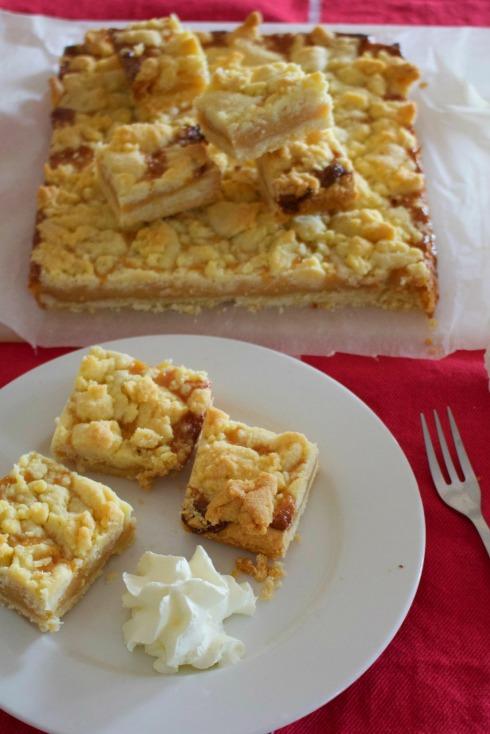 Salted dulce de leche squares